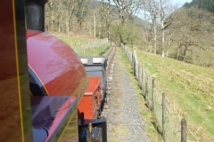 … before waggons are propelled up to Corris …
