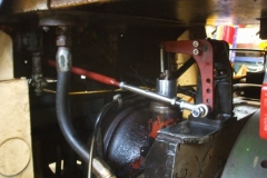 Saturday, 30.3.2019. Simon has fitted new linkages to the control quadrant of diesel loco No. 6 …