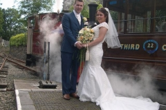 Dannii and Ben got married today, and came down to the railway …