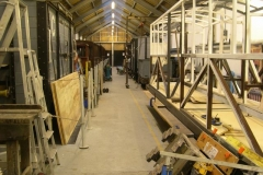 The Carriage Shed is now tidier, with more working space.
