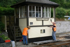Kathy and Chris have chosen to start repainting the Maespoeth Box.