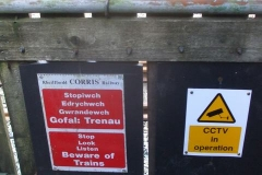 … and new warning signs erected!