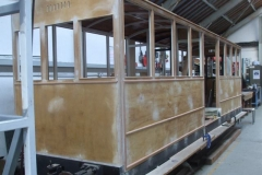 In the Carriage Shed, the beading on carriage No. 23 is almost complete …