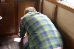 Our (carriage) builder measures inside the new Guards compartment …