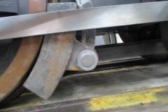 The brake blocks have been fabricated by Corris volunteer Ian Cross ...
