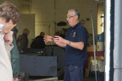 Andy explains a topic to a visitor to the Corris stand at Alan Keef's Open Day …
