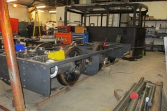 ... the locomotive chassis can be clearly seen to be itching to get onto the metals.
