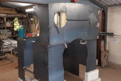 In Nottingham, Andy Cooper has been working hard on the cab arrangement for No. 10. One of a group of photos of volunteer progress on the cab for No. 10. The sub assemblies shown are ready to go to Alan Keef Ltd for trial fitting and further work (1).