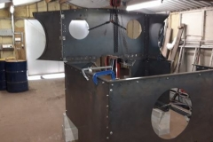 One of a group of photos of volunteer progress on the cab for No. 10. The sub assemblies shown are ready to go to Alan Keef Ltd for trial fitting and further work (4).