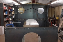 One of a group of photos of volunteer progress on the cab for No. 10. The sub assemblies shown are ready to go to Alan Keef Ltd for trial fitting and further work (5).
