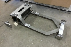 To the right is the fabricated pivot stretcher.