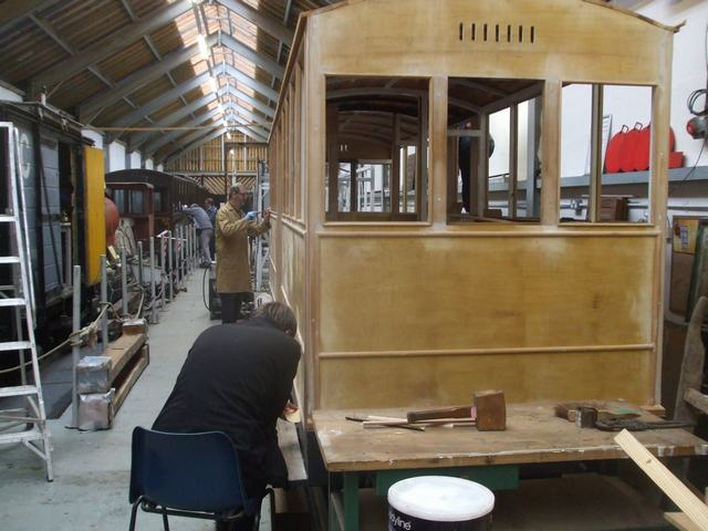 Work continues on Carriage 23.