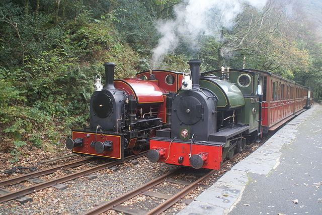 Corris Nos. 7 and 4 on Talyllyn - 23-10-2011