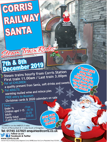 Corris Railway 2019 Santa Trains