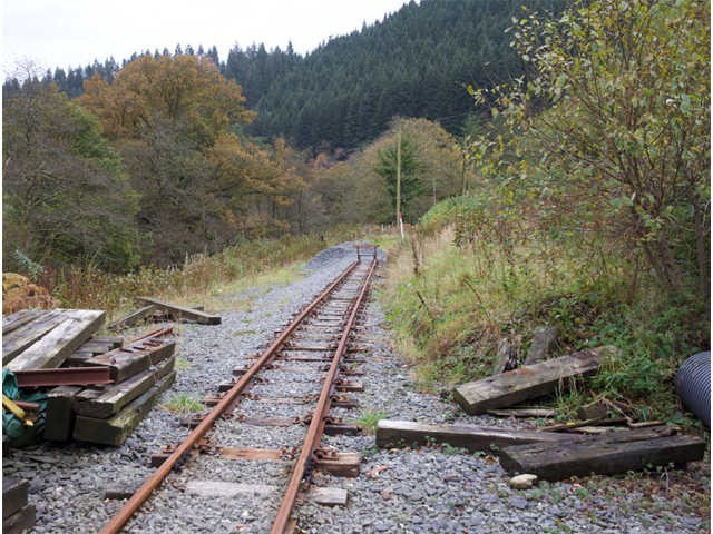 The current rail-head at Maespoeth