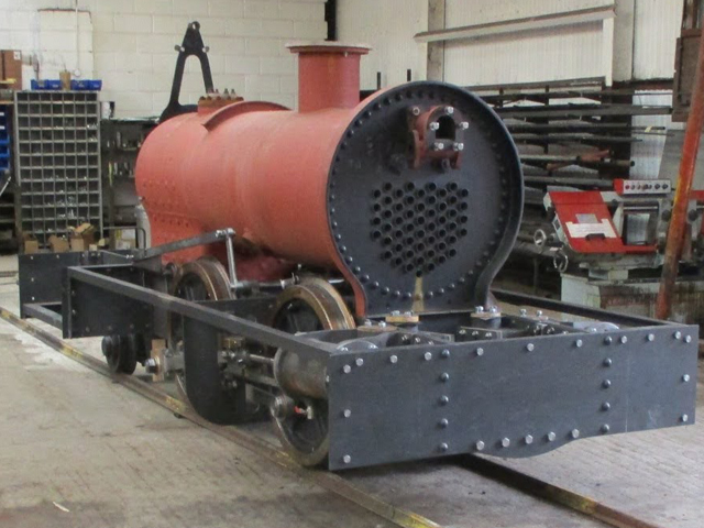 Trial fit of boiler