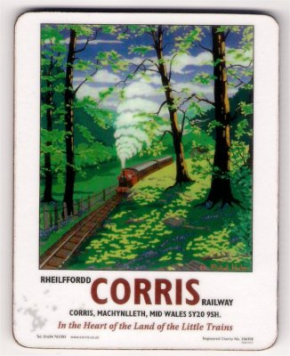 Coaster - Art deco design (Spinney) - Rheilffordd Corris Railway