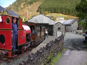Passenger Service awaiting to depart from Corris Station