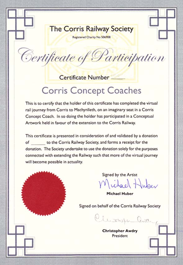 Corris Concept Coaches - Standard Ticket