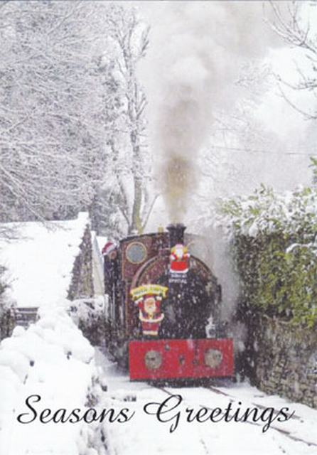 Santa train in the snow