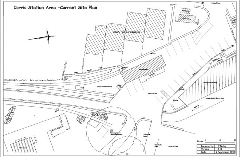 Corris Station Site Plan