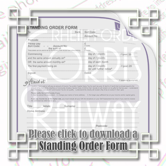 Standing Order Form
